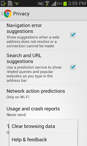 androidhistory-cleardata