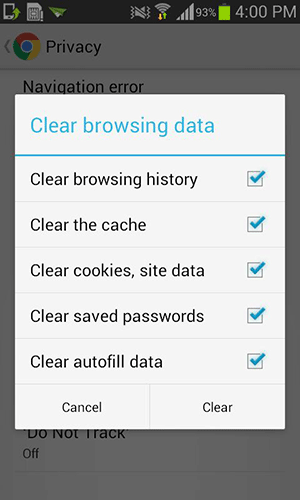 androidhistory-clear