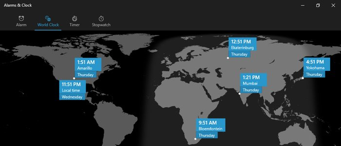 Add-clocks-in-Windows-10-check-time-in-different-locations