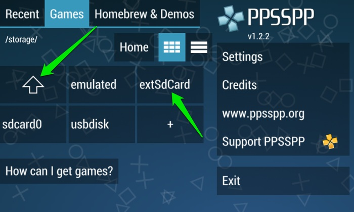 Play-PSP-Games-On-Android-Access-SD-Kartenordner