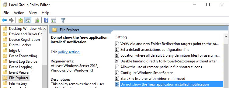 win10-turn-off-new-app-installed-notification-open-policy-settings
