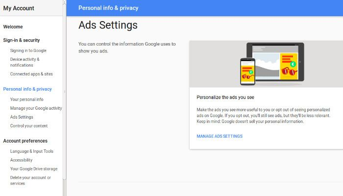disabilitare-personal-ads-adsettings