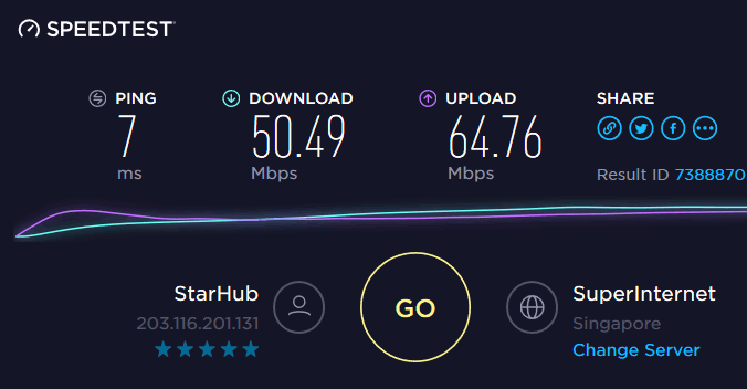 cyberghost-speed-test-before-connect