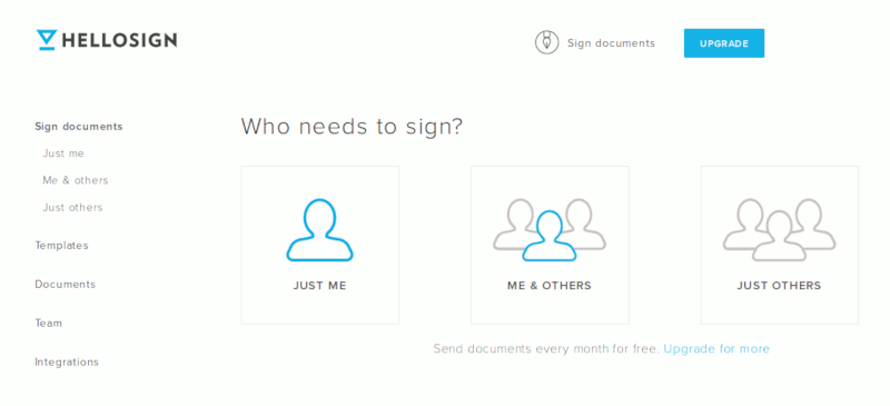 hellosign-sign-options