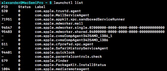 stop-programmes-run-at-startup-macos-launchctl-list