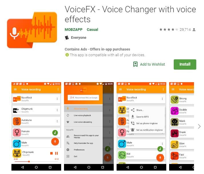 Voice Changing Apps Voicefx