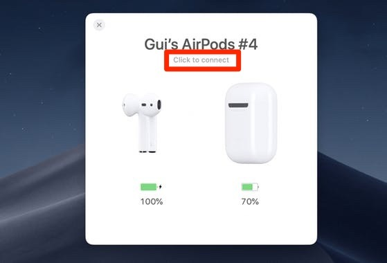 Collega Airpods a Mac Airbuddy Connect