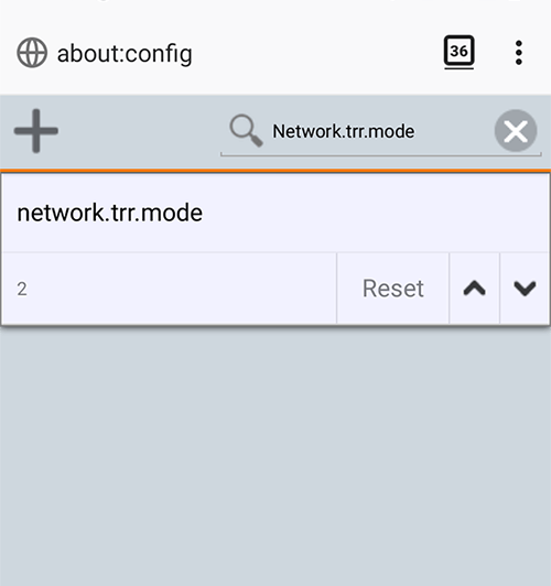 DNS über HTTP Android Firefox
