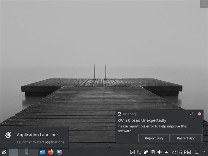 Reinicie as mensagens de erro do Ubuntu Desktop Kde Kde