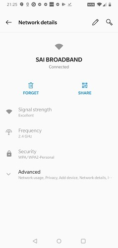Android Wifi Share