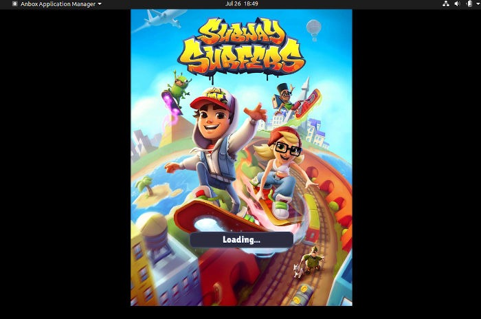Android Oyunlar Linux Anbox Run Game Subway Surfers