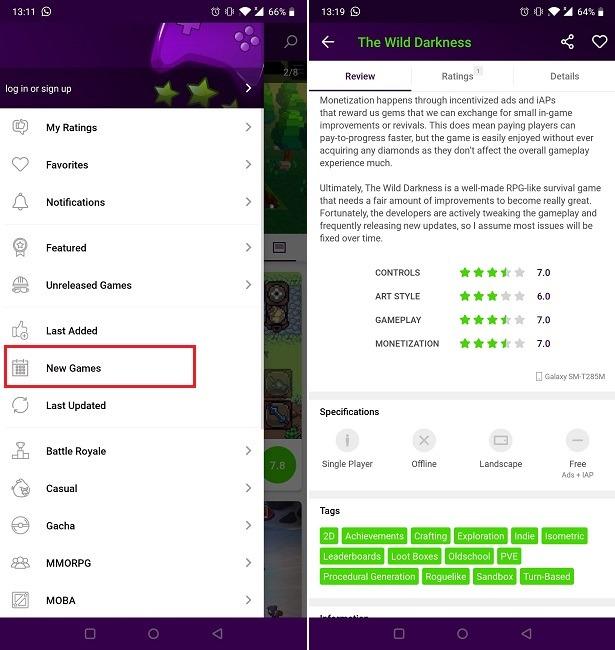 Finden Sie neue Spiele auf Android Minireview Neue Spiele