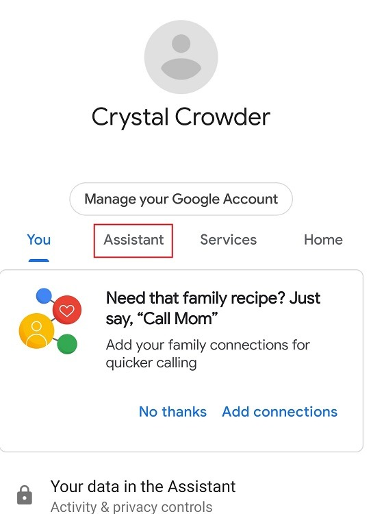 Come utilizzare Google Assistant Family Bell Feature Assistant Tab