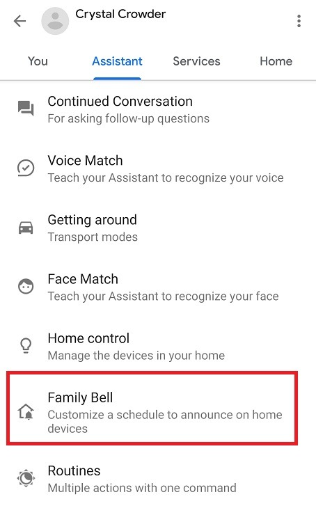 Come utilizzare Google Assistant Family Bell Feature Family Bell