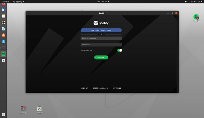 Linux Spotify To Tray Select Window