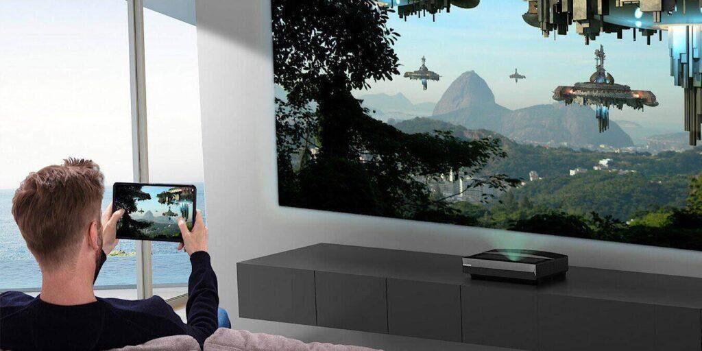 Sparen Sie $ 850 bei einem Bomaker Polaris 4K Laser-TV-Projektor