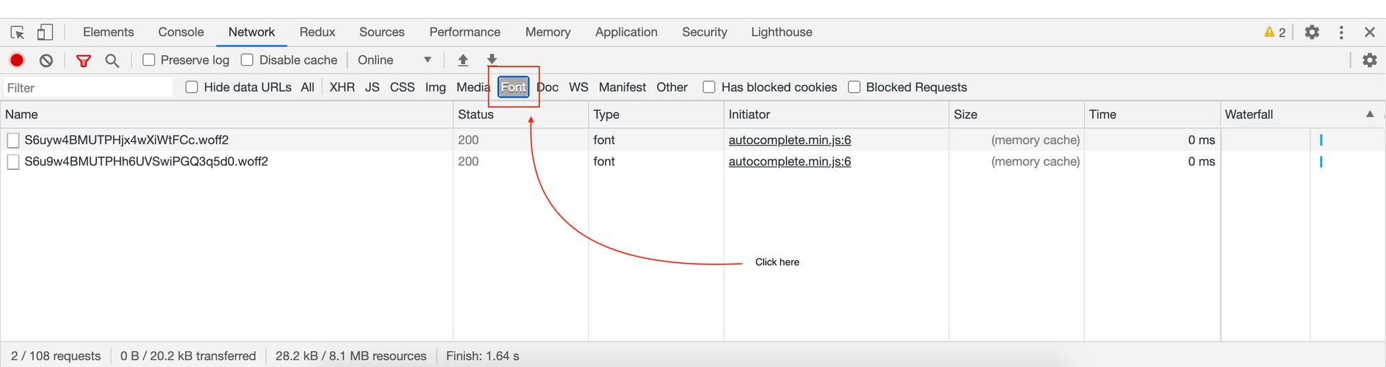 1612037526 469 Chrome DevTools Cum se filtreaza solicitarile de retea