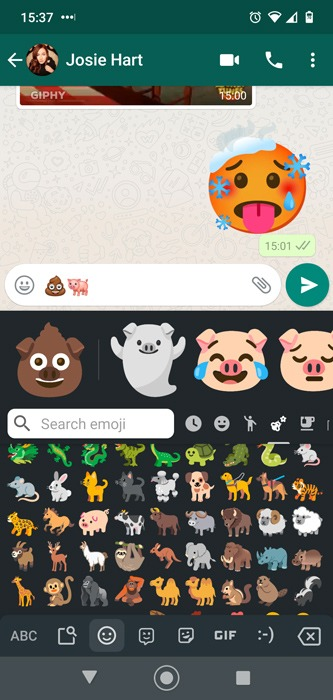 Android Emoji Combos Gboard Poopa Pig