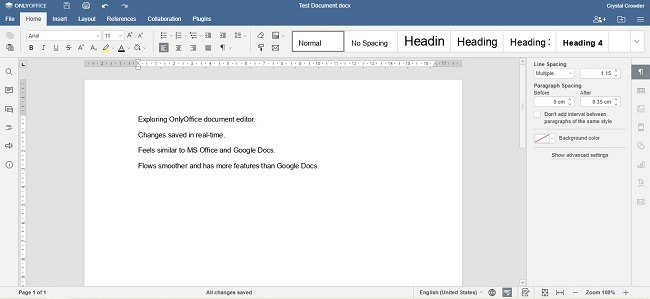 Onlyoffice Workspace Cloud Review Documents