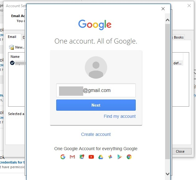 Gmail Gestione multipla di Outlook Signin Gmail