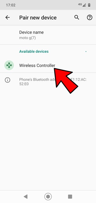 Collega il controller Ps4 Ps5 Android Bluetooth