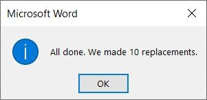 Supprimer le document Word Images
