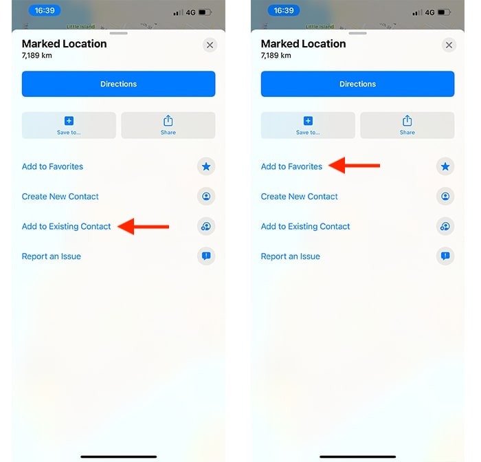 Drop Pin Apple Maps Actions supplémentaires