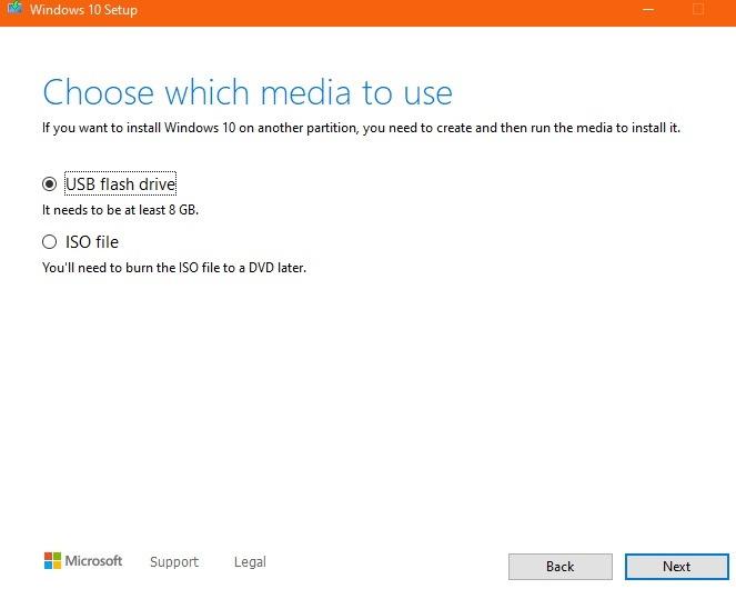 Windows10 Temiz Kurulum Usb Veya Iso
