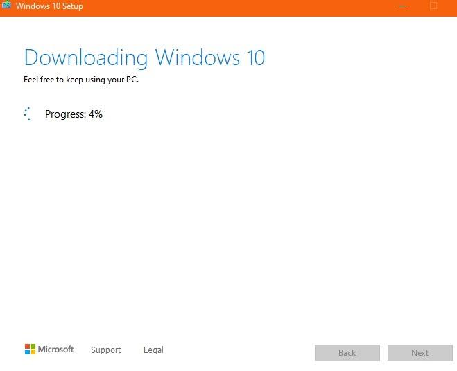 Windows10 Temiz Yükleme İndiriliyor