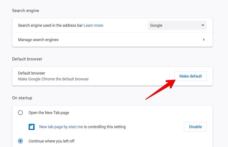 Google Chrome Varsayılan Tarayıcı Yap
