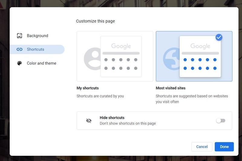 Google Chrome Ana Sayfa Kısayolları