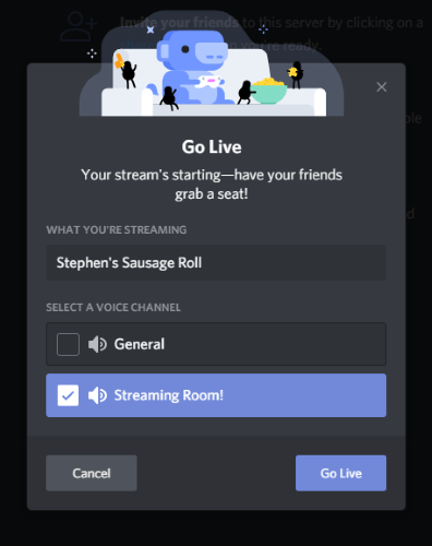 Discord Live Channel