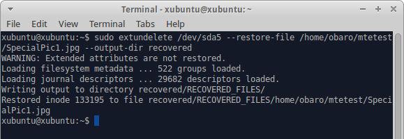 Stellen Sie eine einzelne Datei wieder her.